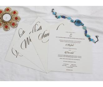 Elegant Brown colored wedding invite