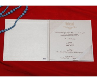 Elegant cream wedding invite