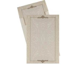 Elegant White and Golden Floral Design Card