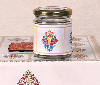 Ethnic Indian wedding invitation box with sweet jars