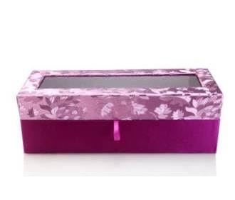 Exquisite Fuchsia and Purple Bangles / Candle / Wine box