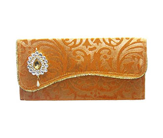 Fawn Self Velvet Envelope -