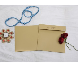 Floral centered wedding invite 1