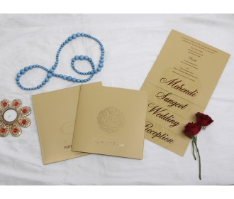 Floral centered wedding invite 1
