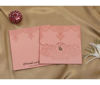 Floral pink laser cut..
