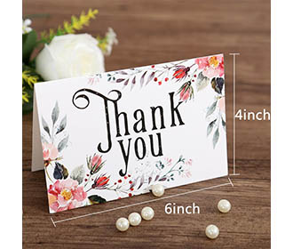 Floral theme colorful mixbag of thank you cards with envelopes