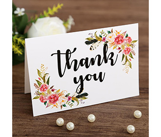 Floral theme colorful mixbag of thank you cards with envelopes -