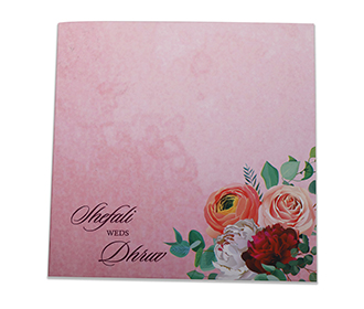 Floral wedding invite..
