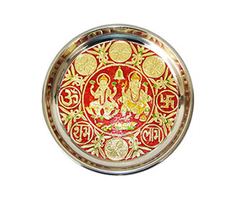 Ganesha & laxmi meenakari puja Thali -