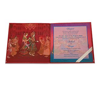 Ganesha theme wedding invite with hindu wedding rituals