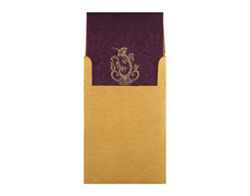 Ganesha Wedding Card in Purple and Golden Colour