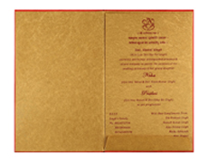 Ganesha Wedding Card in Royal Red and Golden Colour