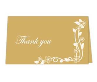 Thank you card  in Go..