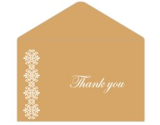 Thank you card  in Golden and White Color