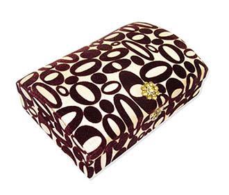 Geometric Print Jewellery Box -