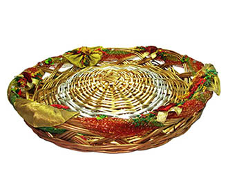 Gold Decorated Weaved Packing basket -