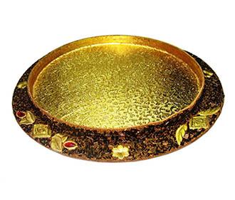 Gold metallic Packing basket -