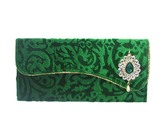 Green Self Velevt Envelope