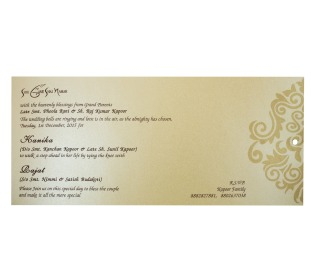 Hindu Wedding Card in Maroon with Pull out inserts in Golden