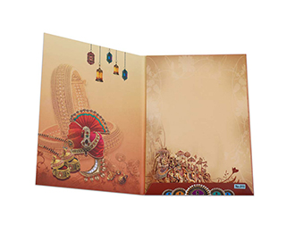 Hindu wedding card with elements of traditional rituals & customs