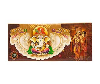 Hindu wedding card with god images and wedding procession for Wedding cards god images
