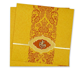 Buy sunflower wedding invitations cards online at hitched forever wedding cards hindu wedding invitation in vibrant yellow and orange stopboris Gallery