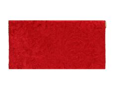 Indian Wedding Envelope with Peacock Pattern in Red Velvet