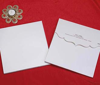 Indian Wedding Invitation Card in Ivory with Royal Elephants
