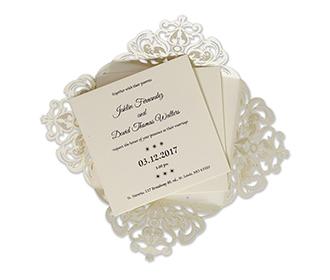 Indian wedding invitation in intricate laser cut design