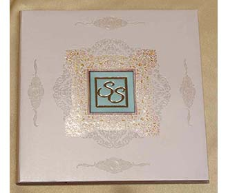 Indian Wedding Invitation in Shades of Dusty Pink & Blue -