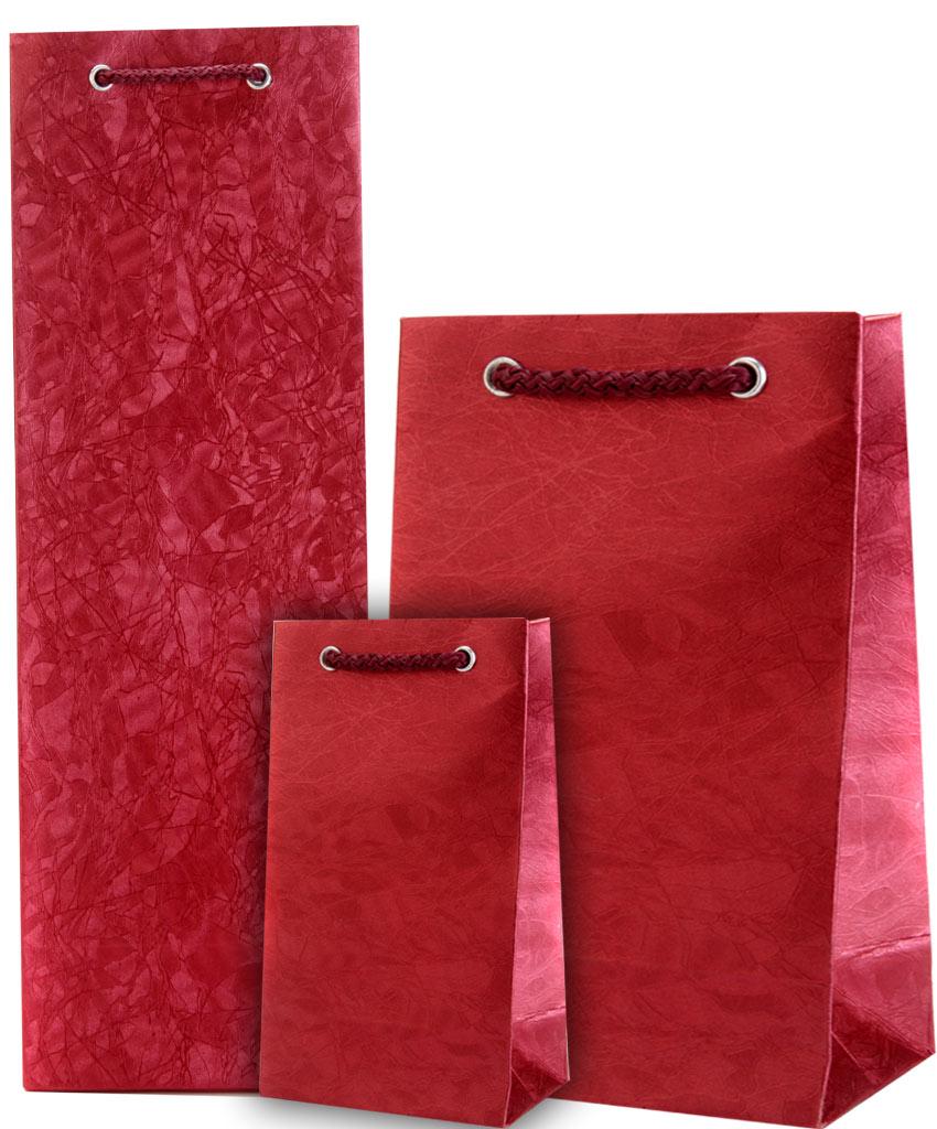 Wedding Gift Bag in Crimson Colour & Wine Combo