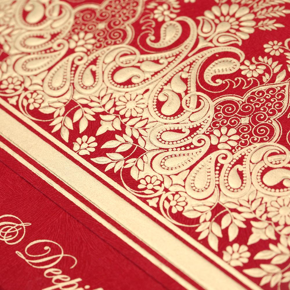 Designer wedding invitation card in vibrant red colourWedding Cards ...