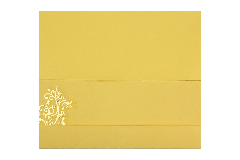 Golden Wedding Invitation in Vibrant yellow Colour - Click Image to Close