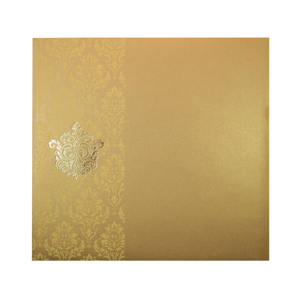Ganesha wedding cards wedding dress decore ideas wedding card in golden yellow colour biocorpaavc Image collections