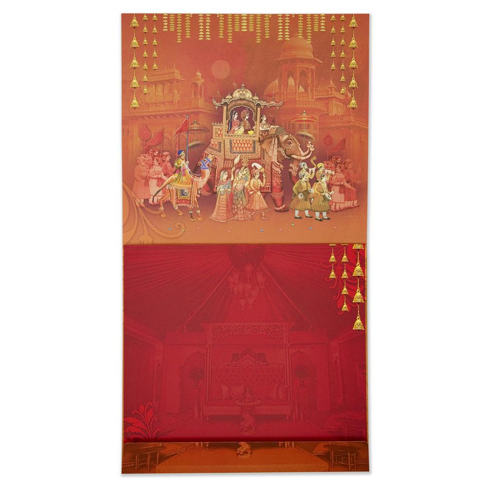 Indian Invitation card with Royal wedding procession themeWedding ...