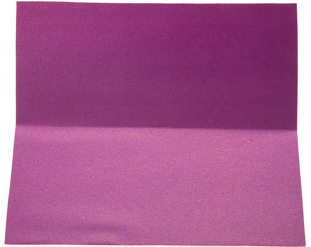 Indian Wedding Card In Purple Maroon With Rangoli Patterns