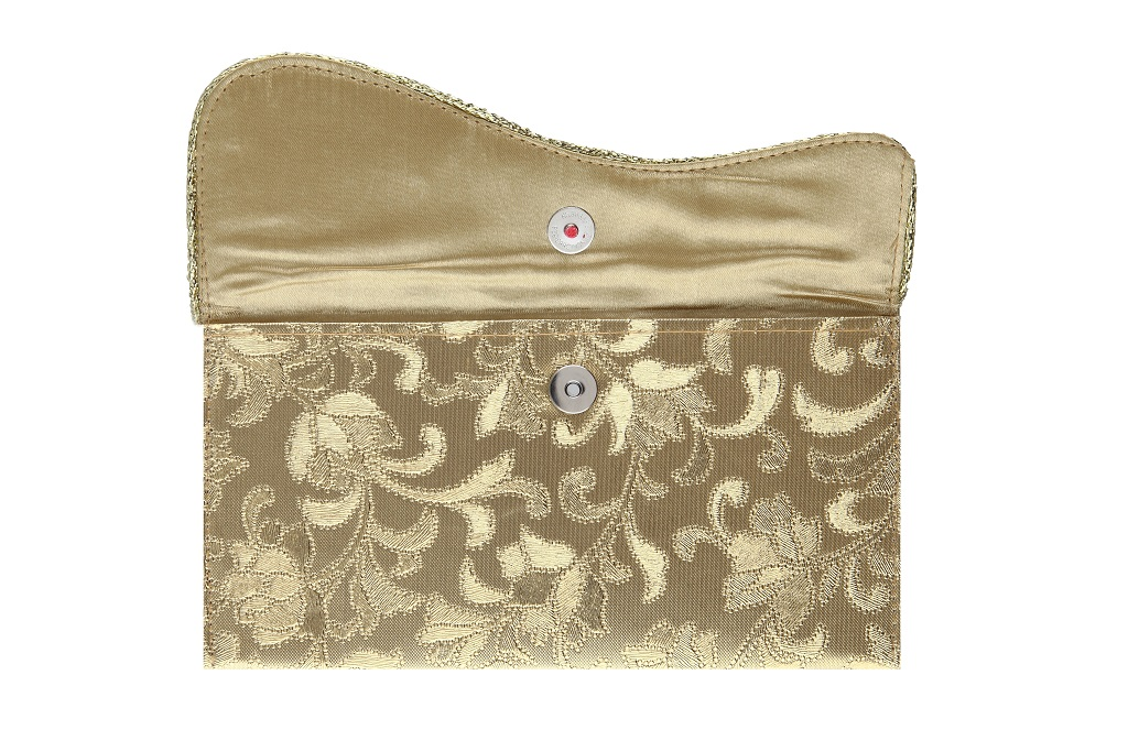 Indian Wedding Envelope with Kundan Accessory - Click Image to Close