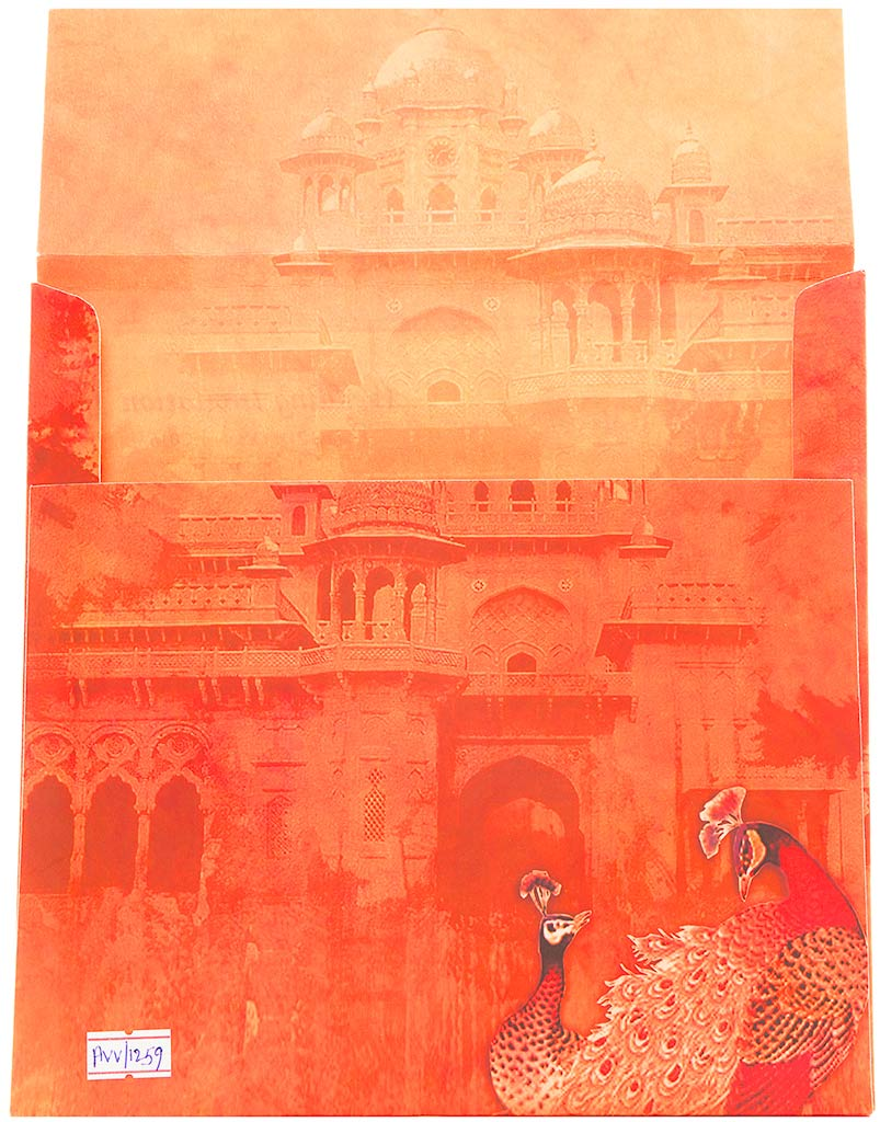 Indian Wedding Invitation With Images Of A Royal Palace | Wedding ...