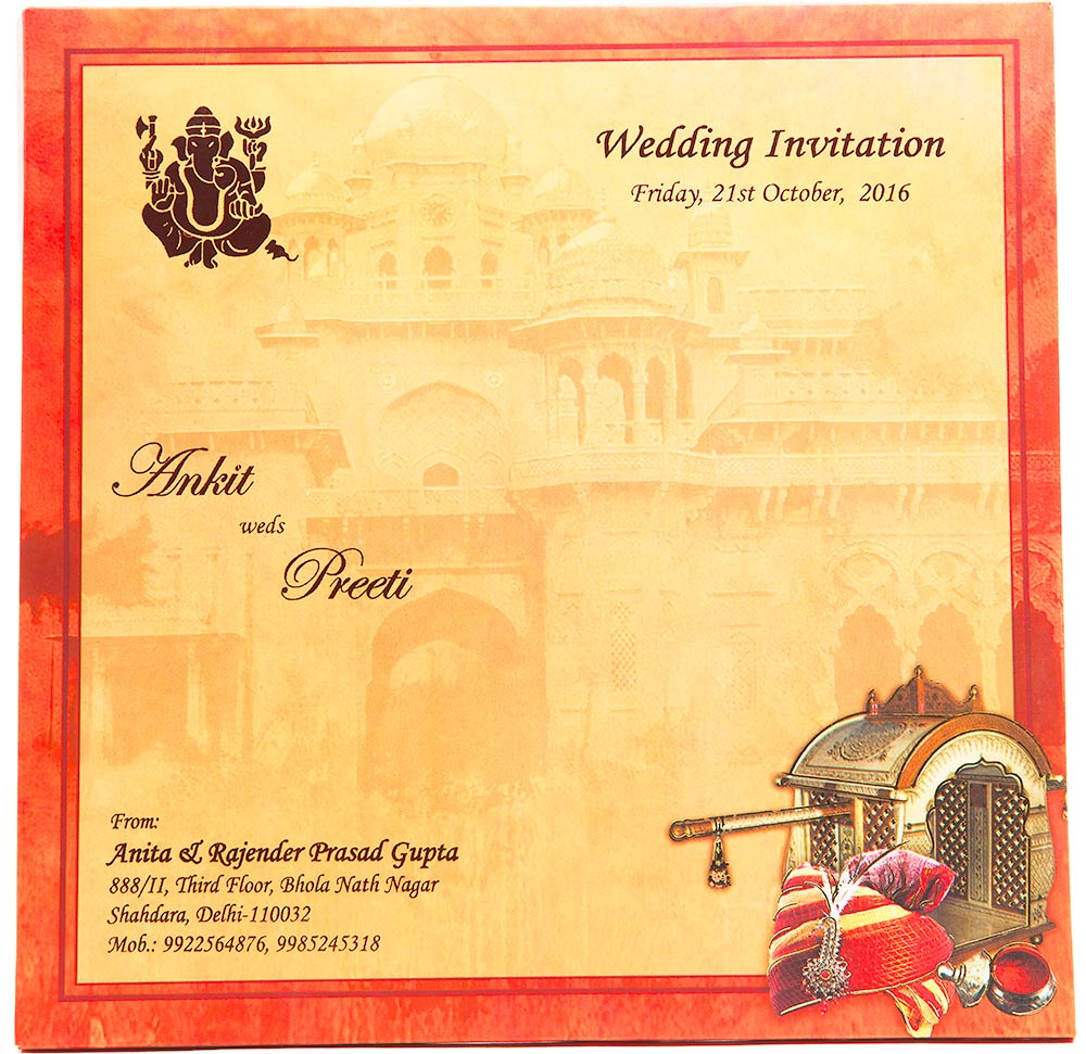 South Indian Wedding Invitation Cards Designs: Indian Wedding Cards
