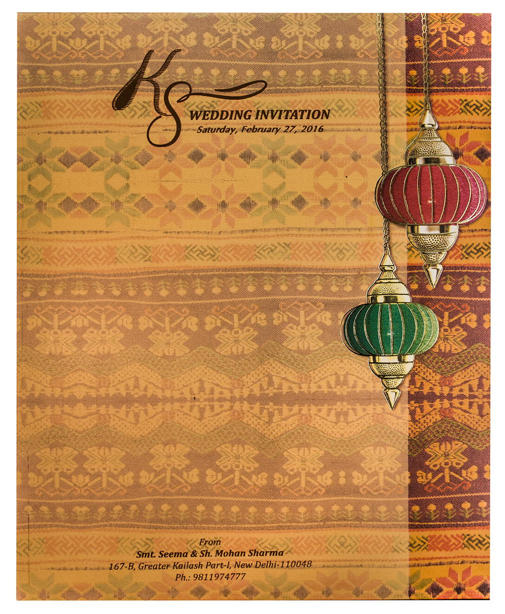 Wedding Invitations in Traditional Design & Colors
