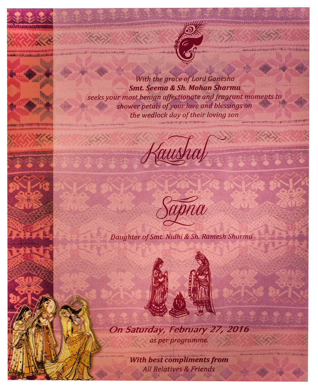 Indian Wedding Invitations in Traditional Design & Colors