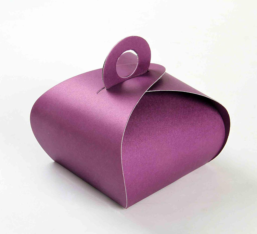 Indian Wedding Party Favor Box in Purple Color