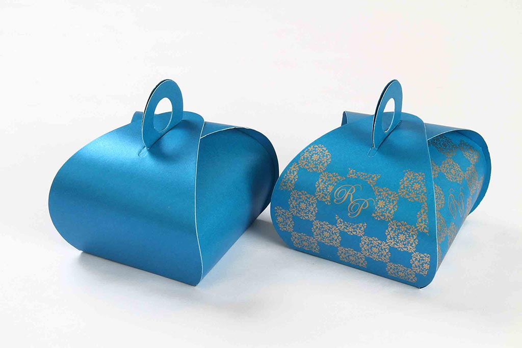 Wedding Party Favor Box in Sky Blue Color