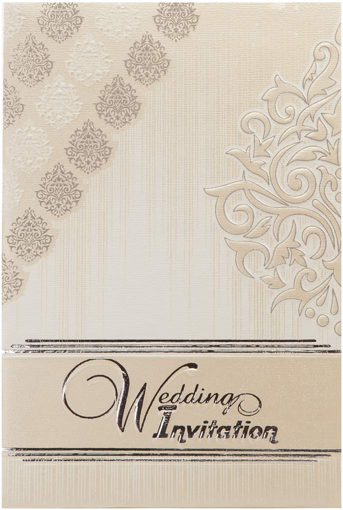 Multi-Faith Wedding Invitation in Ivory with Motifs