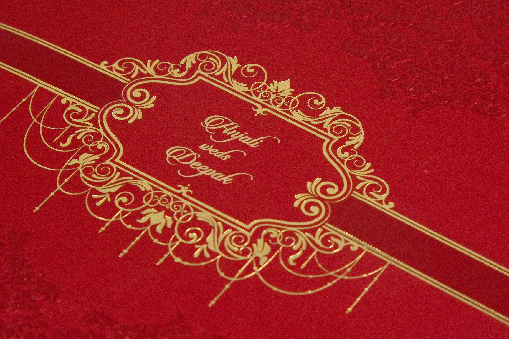 Multifaith indian wedding card with embossed motifsWedding Cards ...