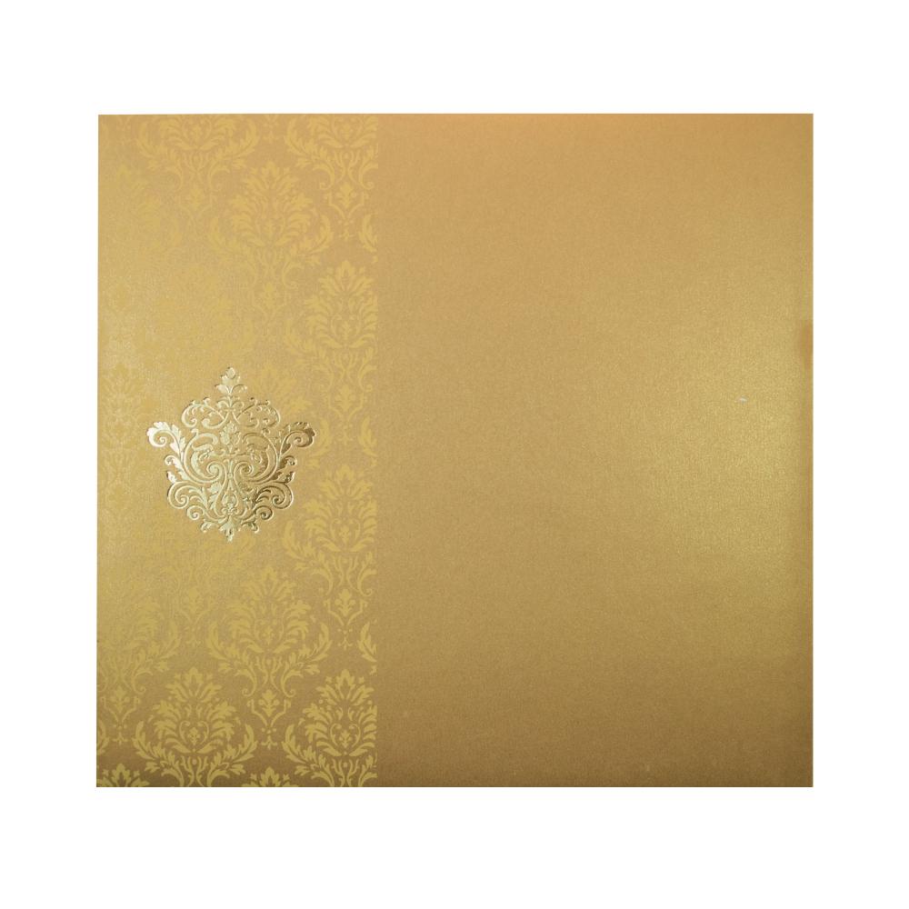 Multifaith wedding invitation card with golden motifs stopboris Gallery