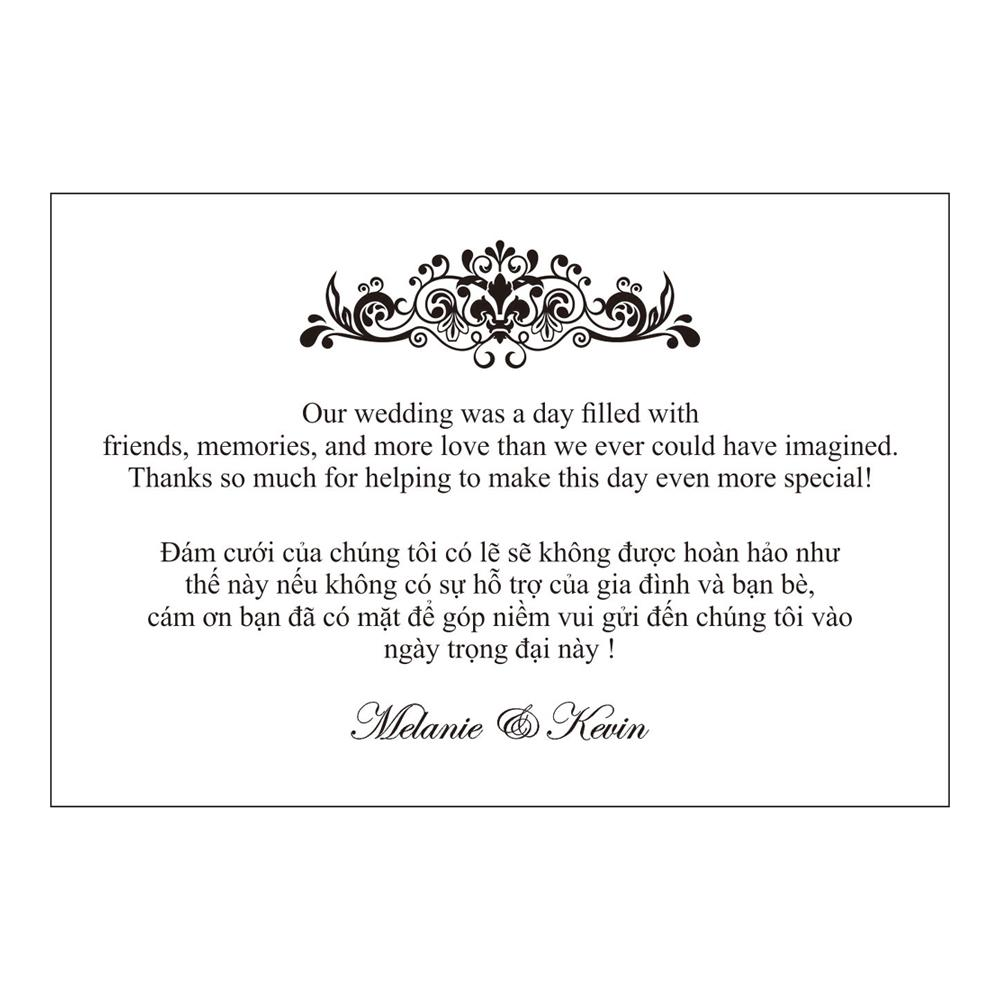 Printed thank you cards wedding stationery with envelopes - Click Image to Close