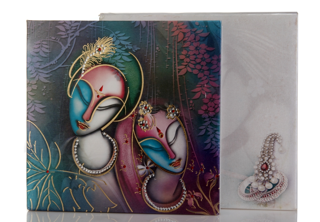 Radha Krishna Wedding Invitation