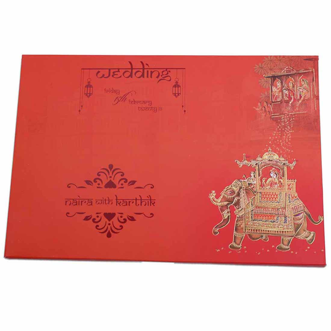 Royal Indian Invitation card with images of wedding ceremonies - Click Image to Close