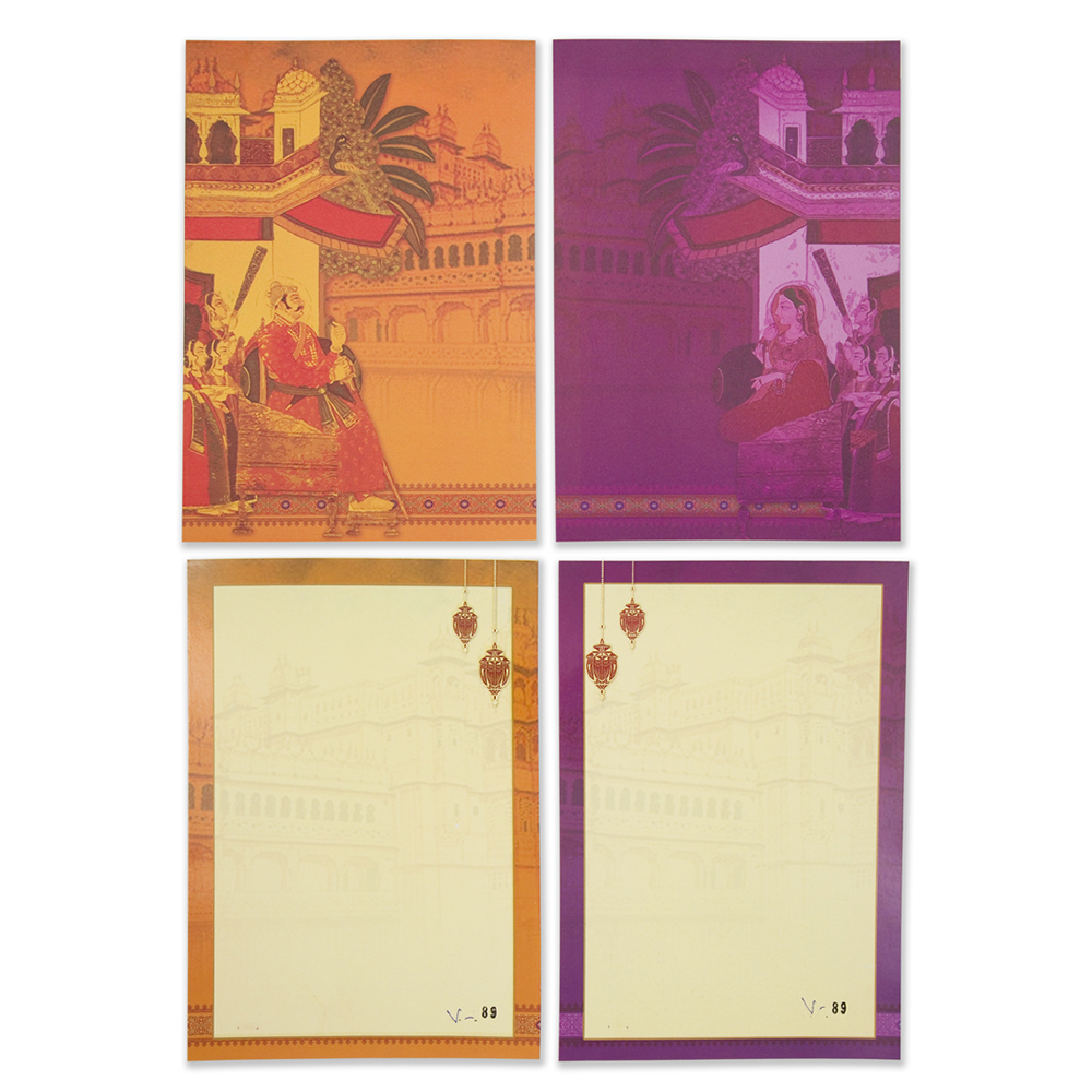 Royal indian wedding invitation card in vibrant coloursWedding Cards ...